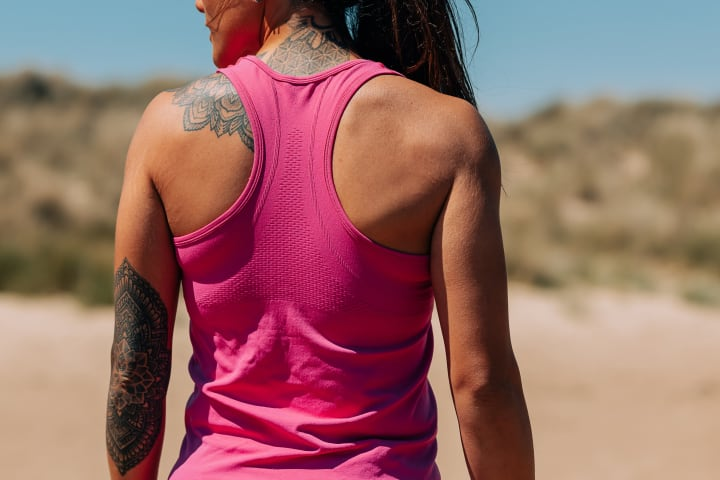 Breathable Fabric Women's Vest - Pink
