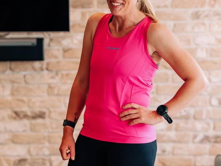 Seamless Design Women's Running Vest - Pink