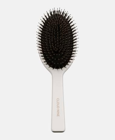 Luxus Boar Bristle Dressing Brush Bürste White