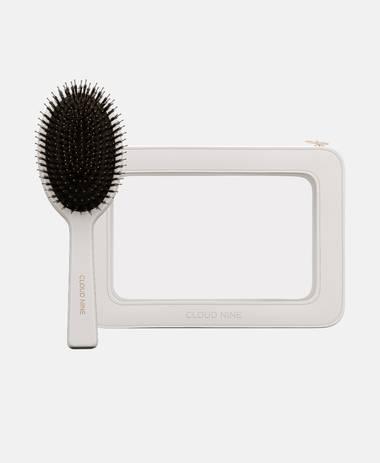 Luxury Boar Bristle Dressing Brush and Travel Case
