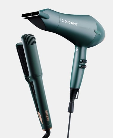 The Evergreen Collection Wide Iron and Airshot Styling Set