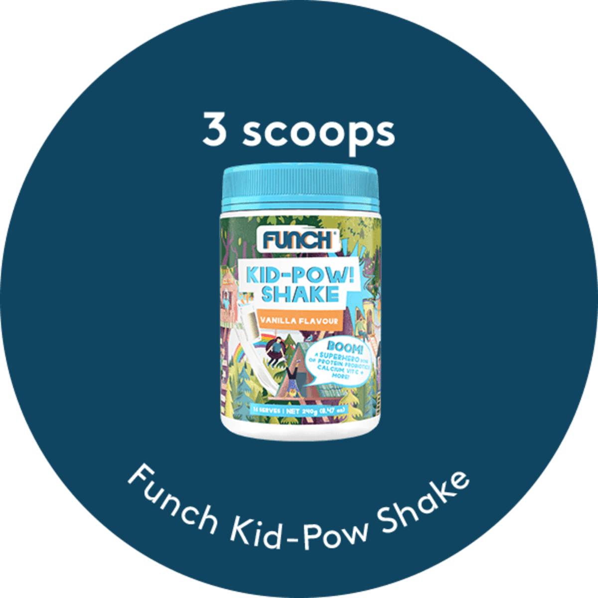 Vanilla Kid-Pow Shake