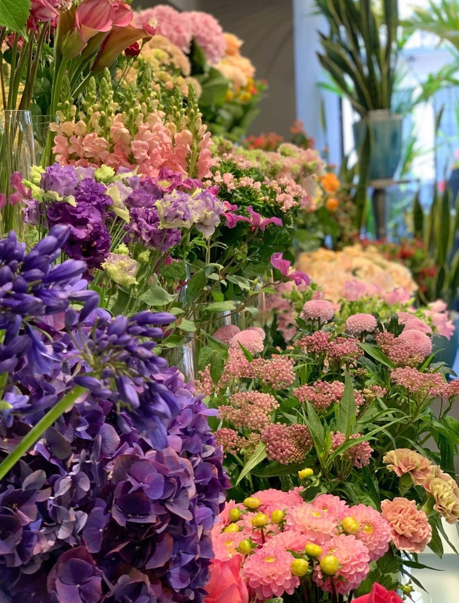 Flowers at the Belgravia Boutique flower shop.