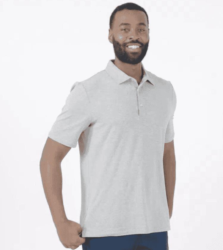 UPF 50+ Sun Protective Polo Shirt for Men - Sensitive Fabric