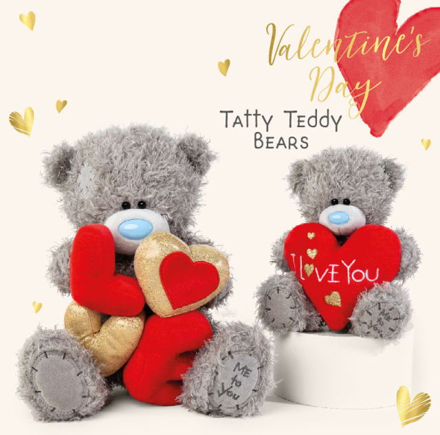 Valentine's Day Tatty Teddy Bears