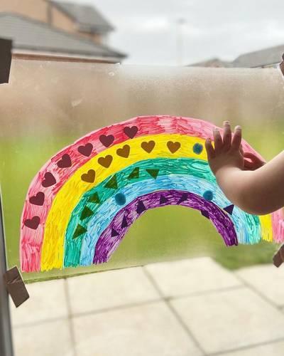 Rainbow Window Art for Kids