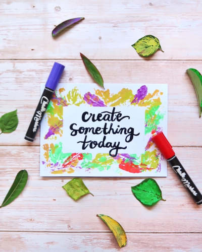 Chalk Markers Quote