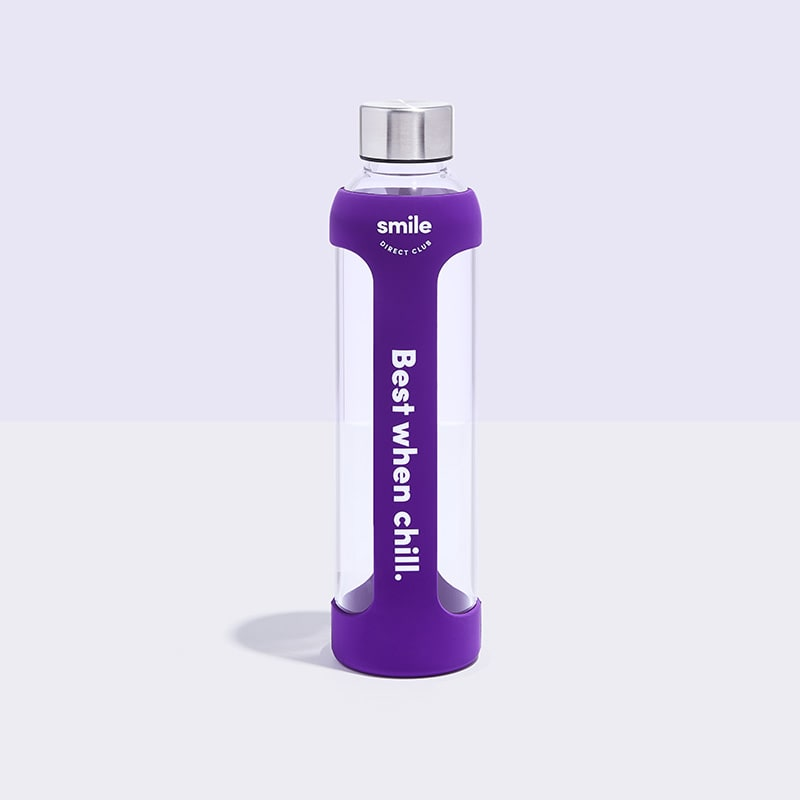 Silicone sleeved water bottle