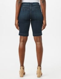 Goddess Fit Bermuda Shorts with Fit Solutions - Dark Stone Wash - Back