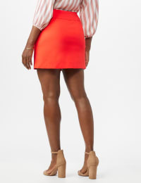 Pull On Solid Skort with Pockets - Coralicious - Back