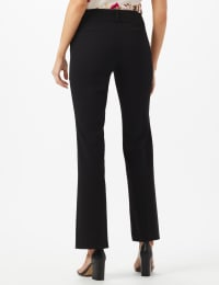 PRE ORDER SECRET AGENT TROUSER WITH CATEYE POCKET & ZIP - Black - Back