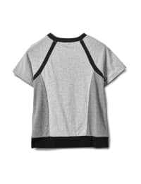 Color Block Knit Top - Misses - Grey/Black - Back