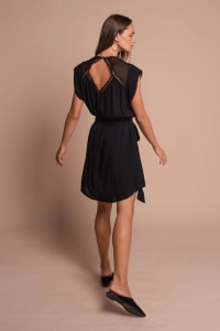 Pre-Order Amber Dress - Black - Back
