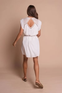 Pre-Order Amber Dress - Off white - Back
